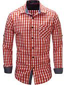 ieftine Tricou Bărbați-Bărbați Cămașă Bumbac Șic Stradă - Houndstooth Imprimeu