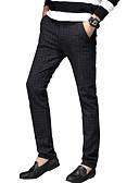 tanie Męskie spodnie i szorty-Męskie Typu Chino Spodnie - Prążki Granatowy