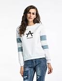 cheap Women's Hoodies & Sweatshirts-Women's Holiday Cotton Sweatshirt - Letter, Print