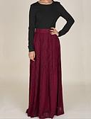 זול חצאיות לנשים-תחרה אחיד - חצאיות מקסי נדנדה בגדי ריקוד נשים
