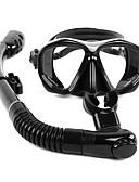 baratos Vestidos de Mulher-WHALE Kit para Snorkeling / Pacotes de Mergulho - Máscara de mergulho, Snorkel - Anti-Nevoeiro, Snorkel Seco Natação, Mergulho Silicone,