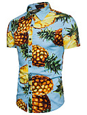 cheap Men's Shirts-Men's Cotton Shirt - Fruit Classic Collar Pineapple