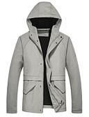 זול סוודרים וקרדיגנים לגברים-אחיד עם קפוצ'ון סגנון סיני ג'קט - בגדי ריקוד גברים כותנה / אנא בחר\י מידה אחת גדולה יותר מהמידה הנורמלית שלך. / שרוול ארוך