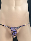 cheap Men's Exotic Underwear-Men's Briefs Underwear - Print, Leopard