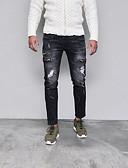 זול מכנסיים ושורטים לגברים-מכנסיים מנוקד צ'ינו ג'ינסים פאנק & גותיות בגדי ריקוד גברים