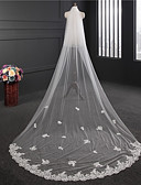 cheap Wedding Veils-Two-tier Double Layered Wedding Veil Chapel Veils with Embroidery Tulle / Classic
