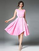 זול שמלות נשים-בסיסי, צבע אחיד - שמלה סווינג בגדי ריקוד נשים