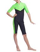 povoljno Zentai odijela-Djeca Djevojčice Boho Sport Color block Classic Style Rukava do lakta Kupaći kostim Djetelina