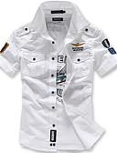 Χαμηλού Κόστους Βρεφικά φορέματα-Ανδρικά Πουκάμισο Κομψό στυλ street / Στρατιωτικό Γεωμετρικό Λεπτό / Αμάνικο