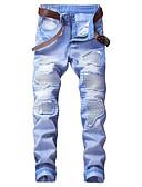 ieftine Maieu & Tricouri Bărbați-Bărbați Vintage Șic Stradă Pantaloni Chinos Blugi Pantaloni Dungi Bloc Culoare Alb negru Albastru & Alb