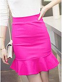 cheap Women's Skirts-Women's Work Trumpet / Mermaid A Line Skirts - Solid Colored
