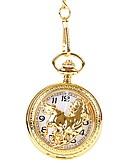 baratos Relógio de Bolso-Homens Casal Relógio Casual Relógio de Bolso Quartzo Relógio Casual Legal Lega Banda Analógico Vintage Casual Dourada - Dourado