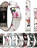tanie Koszulki i tank topy męskie-Watch Band na Fitbit Charge 2 Fitbit Bransoletka skórzana Prawdziwa skóra Opaska na nadgarstek
