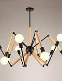 olcso Mechanikus órák-LightMyself™ 10-Light Függőlámpák Háttérfény Festett felületek Fa / Bambusz 110-120 V / 220-240 V Meleg fehér / Fehér Az izzó tartozék / 20-30 ㎡ / E26 / E27