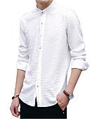 זול טישרטים לגופיות לגברים-אחיד צווארון עומד(סיני) חולצה - בגדי ריקוד גברים בסיסי / שרוול ארוך