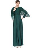 tanie Sukienki-Damskie Luźna Abaya / Jalabiya Sukienka - Solidne kolory, Koronka Maxi