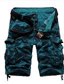 tanie Męskie spodnie i szorty-Męskie Bawełna Krótkie spodnie Spodnie kamuflaż