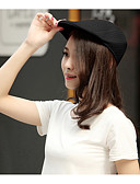 זול כובעים אופנתיים-כובע כומתה (בארט) כובע עם שוליים רחבים כובע שמש כובע בייסבול - אחיד פוליאסטר עבודה יוניסקס