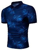 billige Jumpsuits og sparkebukser til damer-Skjortekrage Store størrelser Polo Herre - Blomstret / Geometrisk Chinoiserie / Kortermet