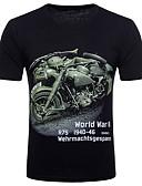baratos Camisetas & Regatas Masculinas-Homens Camiseta-Bandagem Punk & Góticas Moda de Rua Algodão Decote Redondo
