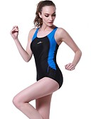 cheap Leggings-Women's One Piece Swimsuit Chlorine resistance, Comfortable, Sports Nylon / Spandex Sleeveless Swimwear Beach Wear Bodysuit Patchwork Swimming