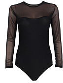 preiswerte Bodysuit-Damen Niedlich Jumpsuit - Gitter, Solide