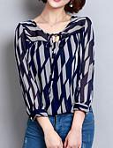 abordables Blusas para Mujer-Mujer Básico Estampado Blusa Geométrico / Primavera / Verano / Con Lazo