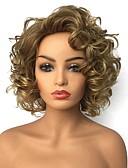 ieftine Fuste de Damă-Peruci Sintetice Pentru femei Buclat Blond Păr Sintetic Păr Balayage / Șuvițe Blond Perucă Lungime medie Fără calotă Blond StrongBeauty