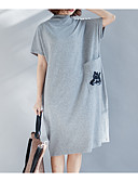 cheap Women's Dresses-Women's Cotton Loose Loose Dress - Solid Colored Low Waist
