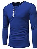 זול טישרטים לגופיות לגברים-גיאומטרי צווארון עגול כותנה, טישרט - בגדי ריקוד גברים / שרוול ארוך