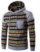 cheap Men's Hoodies & Sweatshirts-Men's Plus Size Sports Active Long Sleeve Loose Hoodie - Solid Colored Hooded Black L / Spring / Fall