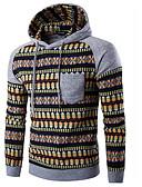 זול חולצות לגברים-עם קפוצ'ון אחיד קפוצ'ון משוחרר שרוול ארוך מידות גדולות פעיל ספורט בגדי ריקוד גברים