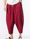 זול מכנסיים ושורטים לגברים-בגדי ריקוד גברים כותנה מכנסי טרנינג מכנסיים אחיד