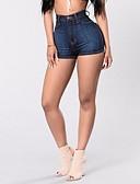 זול מכנסיים לנשים-בגדי ריקוד נשים סגנון רחוב כותנה רזה שורטים מכנסיים אחיד