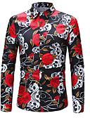 זול חולצות לגברים-פרחוני גיאומטרי מידות גדולות, חולצה - בגדי ריקוד גברים