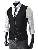 cheap Men's Blazers & Suits-Men's Business Casual Vest-Solid Colored / Sleeveless / Work