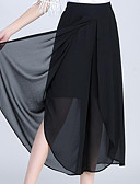 cheap Fashion Scarves-Women's Street chic Plus Size Loose Wide Leg Pants - Solid Colored Patchwork
