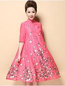 זול שמלות נשים-עומד רקום, פרחוני - שמלה נדן סגנון סיני בגדי ריקוד נשים