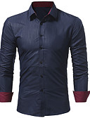 cheap Men's Shirts-Men's Plus Size Slim Shirt - Solid Colored