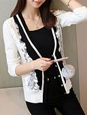cheap Women's Skirts-Women's Basic Long Sleeves Cardigan - Color Block V Neck