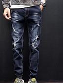 זול מכנסיים ושורטים לגברים-בגדי ריקוד גברים סגנון רחוב ג'ינסים מכנסיים - אחיד פול / סתיו / חורף