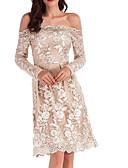 olcso Szalagavató ruhák-Női Pamut Nadrág - Egyszínű Csipke Bézs / Aszimmetrikus / Aszimmetrikus