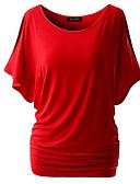 baratos Saias Femininas-Mulheres Camiseta - Para Noite Básico / Moda de Rua Sólido
