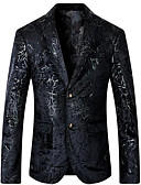 זול בלייזרים וחליפות לגברים-אחיד סגנון רחוב בלייזר - בגדי ריקוד גברים / שרוול ארוך