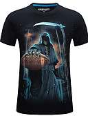 cheap Men's Tees & Tank Tops-Men's Street chic T-shirt - Skull Print Round Neck / Short Sleeve