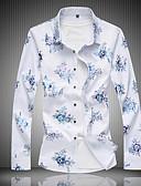 זול חולצות פולו לגברים-פרחוני מידות גדולות כותנה, חולצה - בגדי ריקוד גברים
