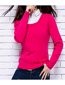 cheap Women's Sweaters-Women's Long Sleeves Cashmere - Solid Colored