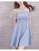 tanie Sukienki-Damskie Szczupła Spodnie - Solidne kolory Wysoka talia Niebieski / Seksowny