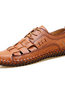 Недорогие Цифровые часы-Муж. Комфортная обувь Искусственная кожа Весна / Лето Мокасины и Свитер Контрастных цветов Черный / Желтый / Коричневый