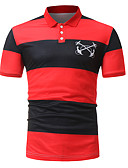 ieftine Pantaloni Bărbați si Pantaloni Scurți-Bărbați Polo Sport Activ - Bloc Culoare / Manșon scurt